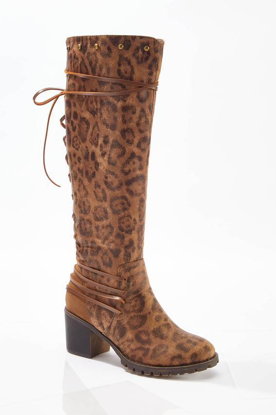 Lace Up Back Tall Boots