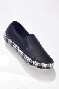 Plaid Sole Sneakers