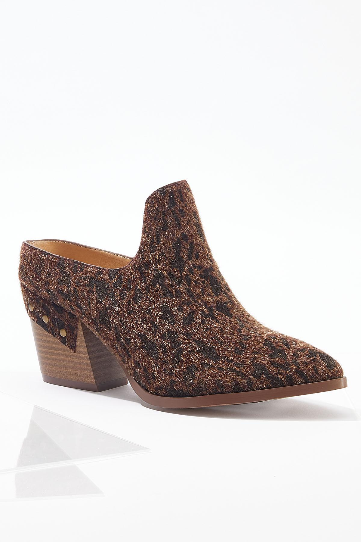 Faux Fur Heeled Mules