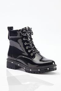 Stud Outsole Combat Boots