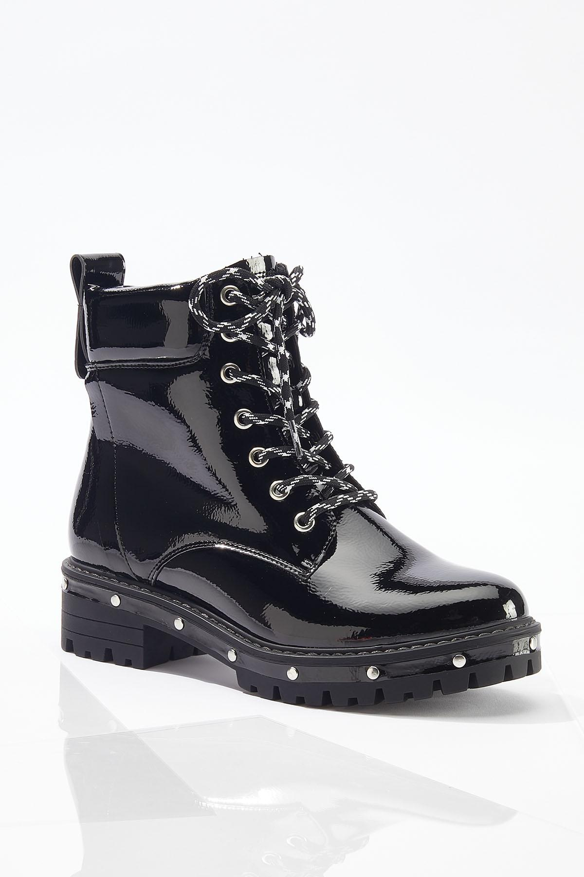 Wide Width Stud Outsole Combat Boots