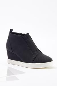 Perforated Wedge Sneakers