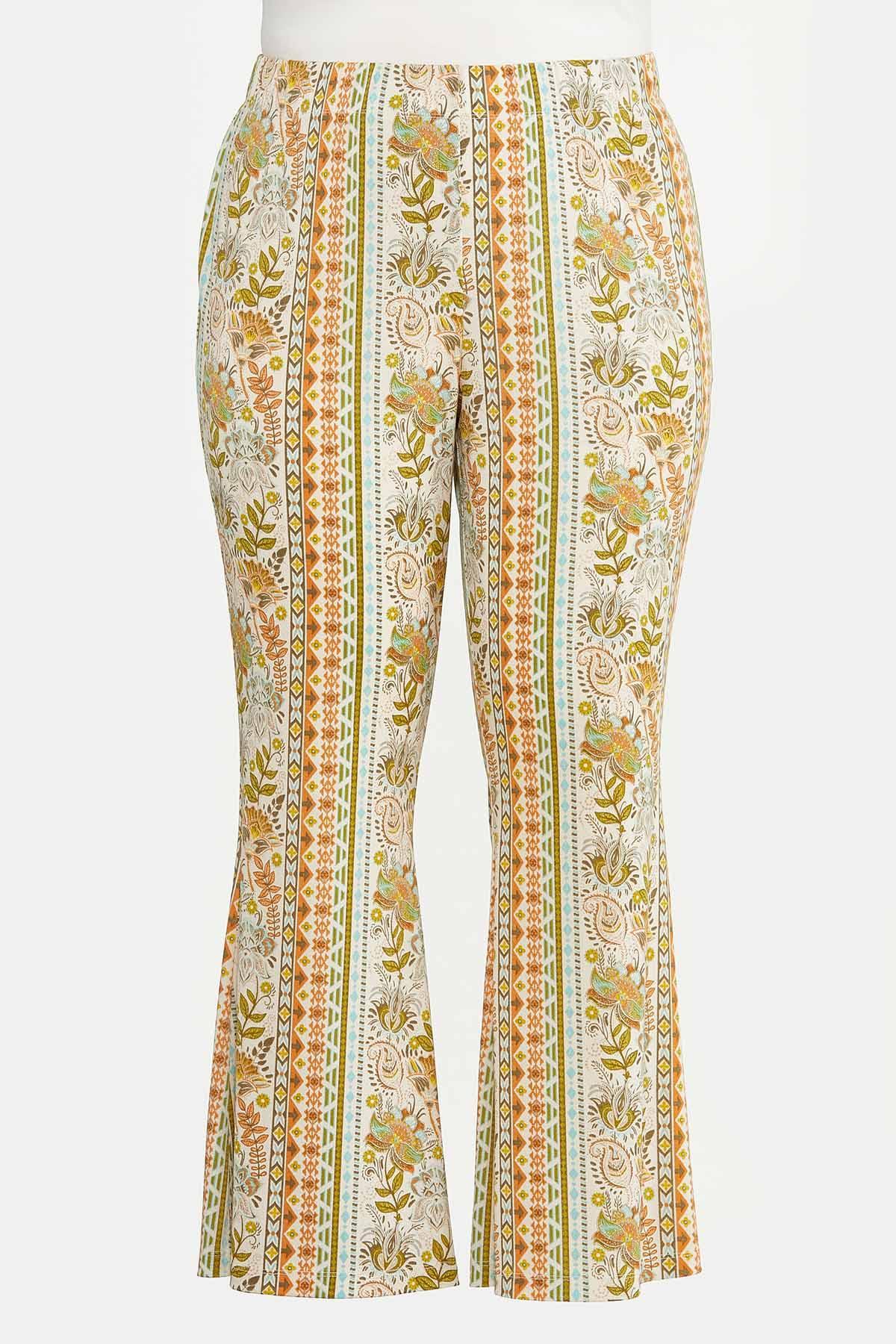 Plus Petite Retro Floral Flare Pants