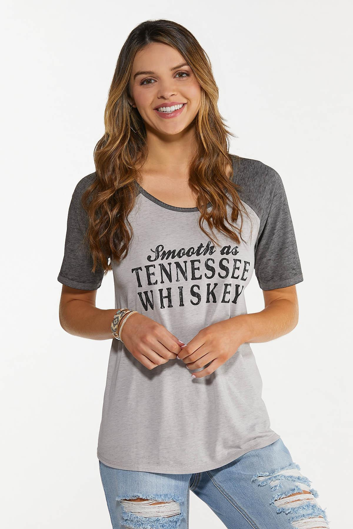 Plus Size Smooth As Tennessee Whiskey Tee