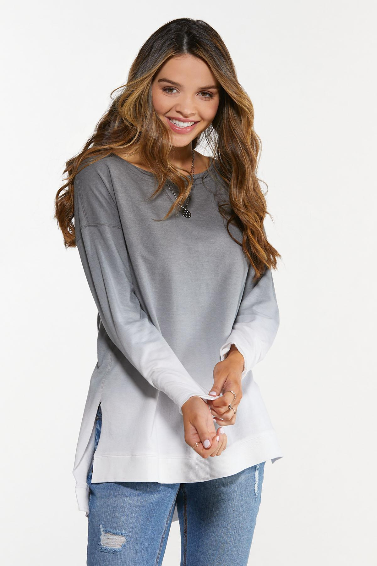 Plus Size Ombre Sweatshirt