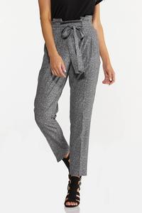 Marled Tie Waist Pants