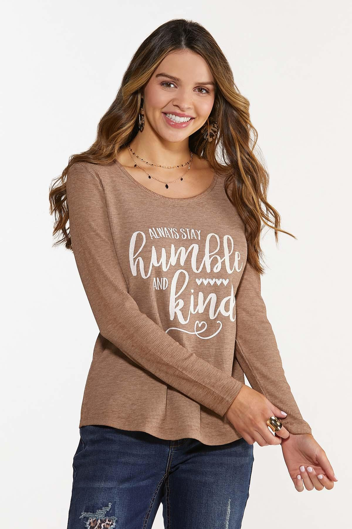 Plus Size Humble And Kind Waffle Top