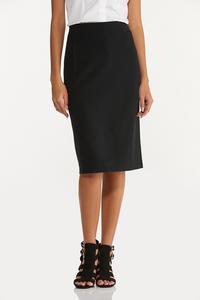 Plus Size Ponte Pencil Skirt