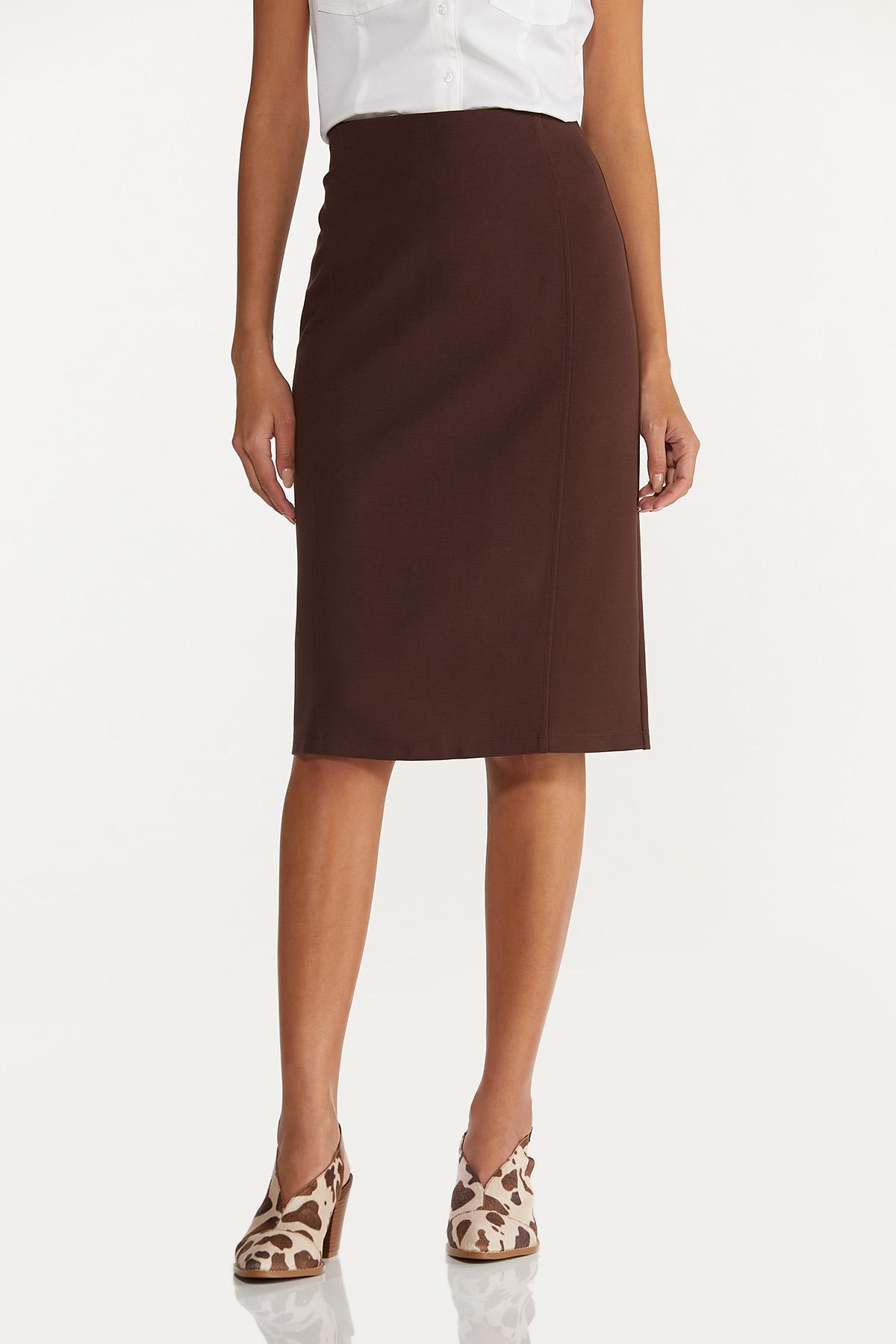 Ponte Pencil Skirt