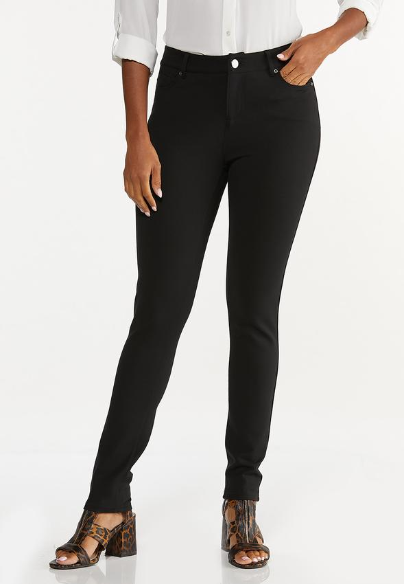 Petite Skinny 5-Pocket Ponte Pants