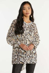 Plus Size Gilded Leopard Tunic