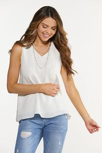 Plus Size Double Layer Solid Tank