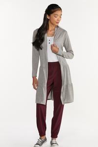 Plus Size Gray Tiered Cardigan