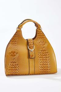 Golden Buckle Flap Satchel