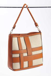 Interwoven Tote Handbag