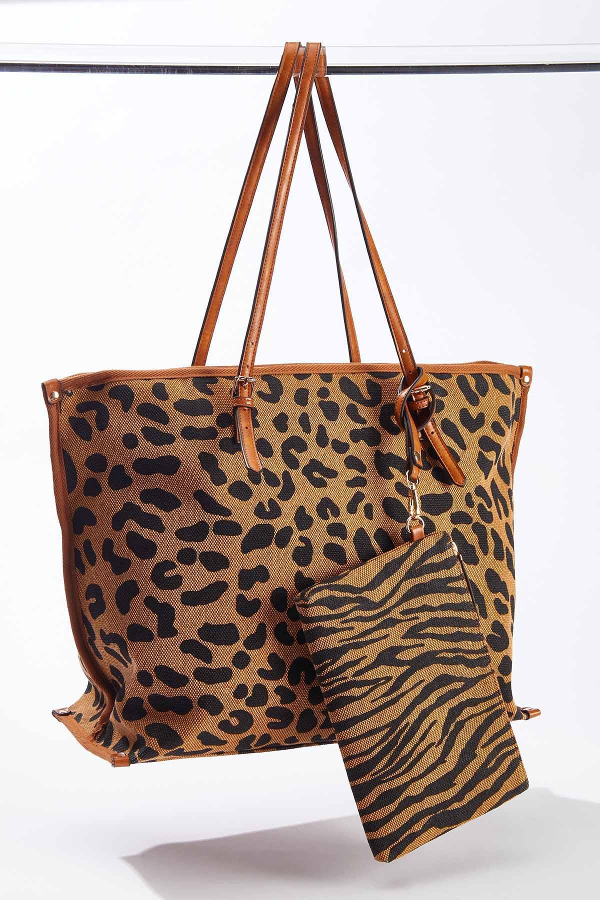 Leopard Mix Tote