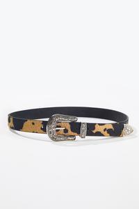 Plus Size Faux Fur Buckle Belt