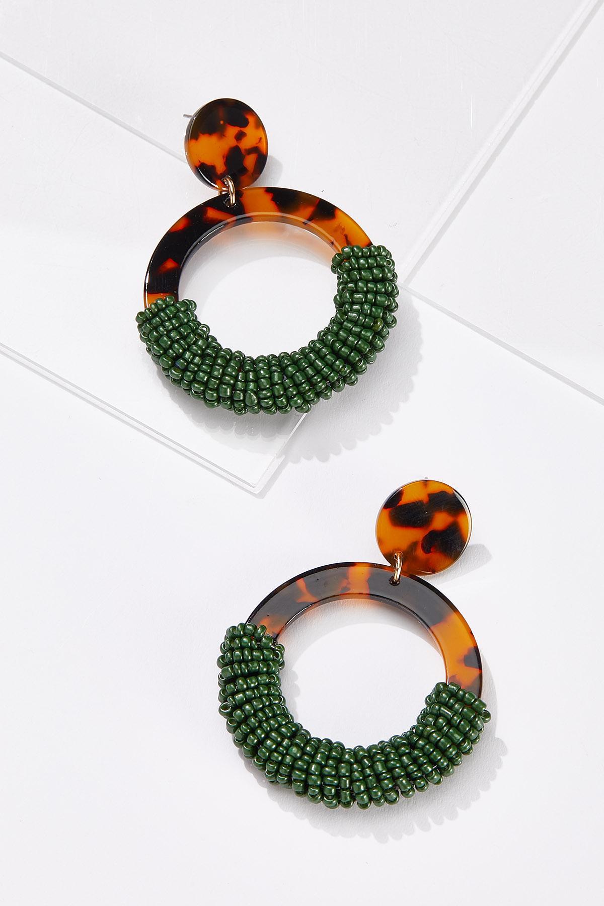 Tort Seed Bead Earrings