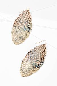 Faux Snakeskin Earrings