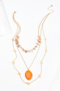 Delicate Layered Stone Necklace