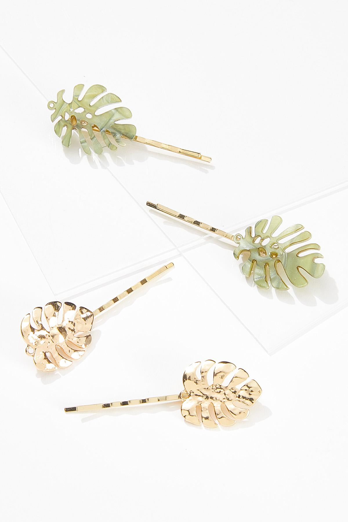 Palm Leaf Hair Pins