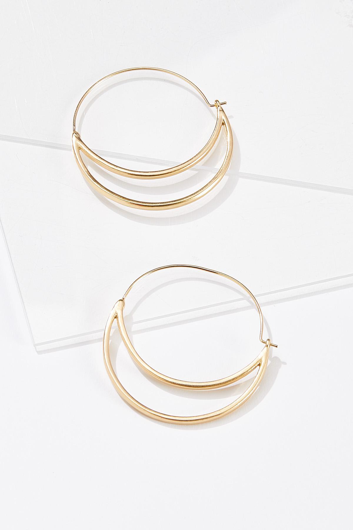 Cutout Moon Hoop Earrings
