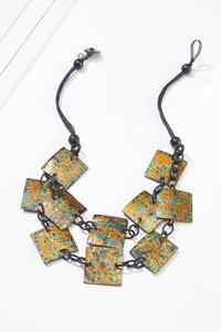 Paint Splatter Square Necklace