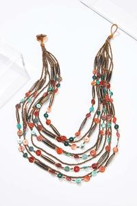 Layered Multi Bead Necklace
