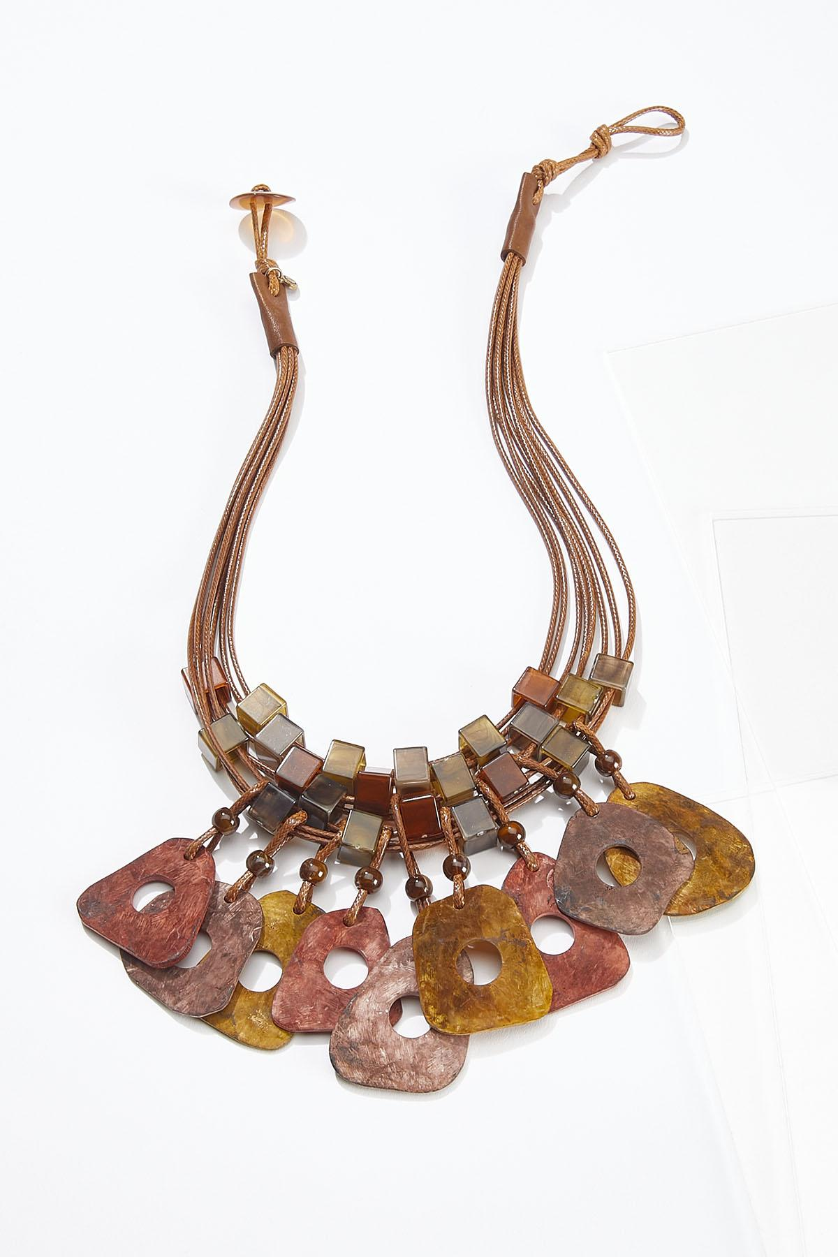 Shades Of Autumn Cord Necklace