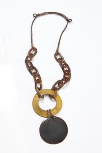 Resin Chain Pendant Necklace