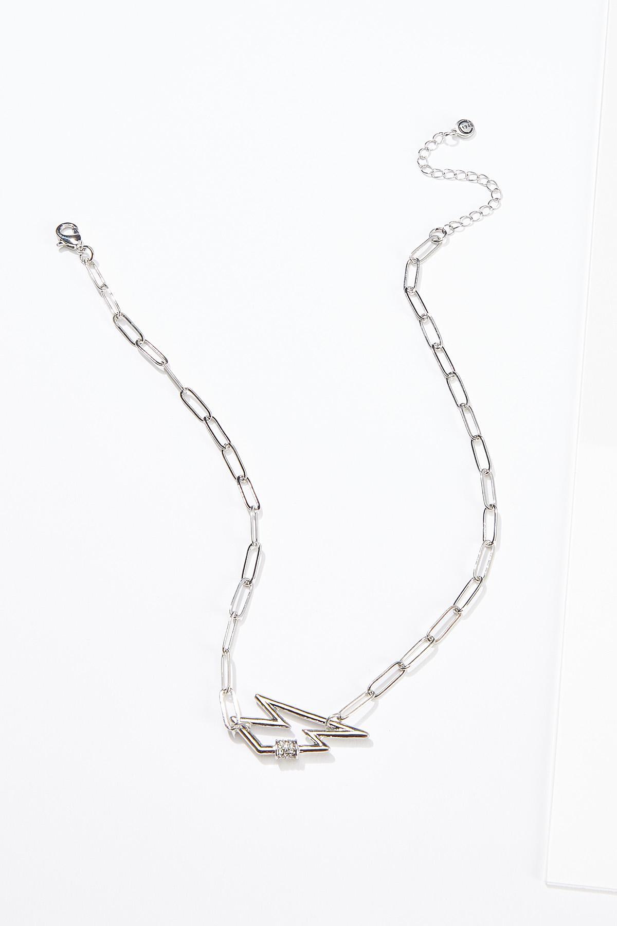 Lightning Bolt Link Necklace
