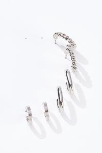 Assorted Silver Hoop Earrings