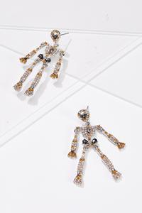 Dancing Glass Skeleton Earrings