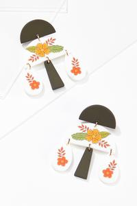 Geo Clay Flower Earrings