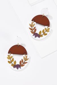 Clay Fall Leaf Earrings