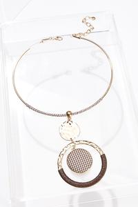 Houndstooth Wire Necklace