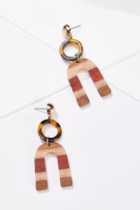 Mod Wood Resin Earrings