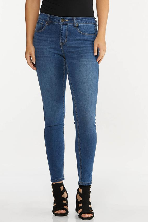 High-Rise Medium Wash Skinny Jeans