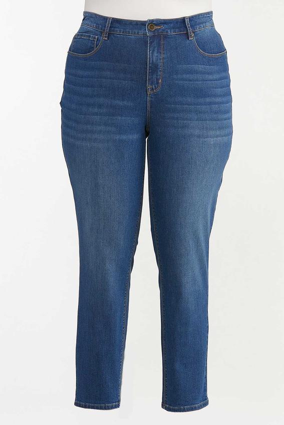 Plus Size High-Rise Medium Wash Skinny Jeans
