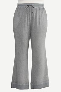 Plus Size Gray Flare Lounge Pants