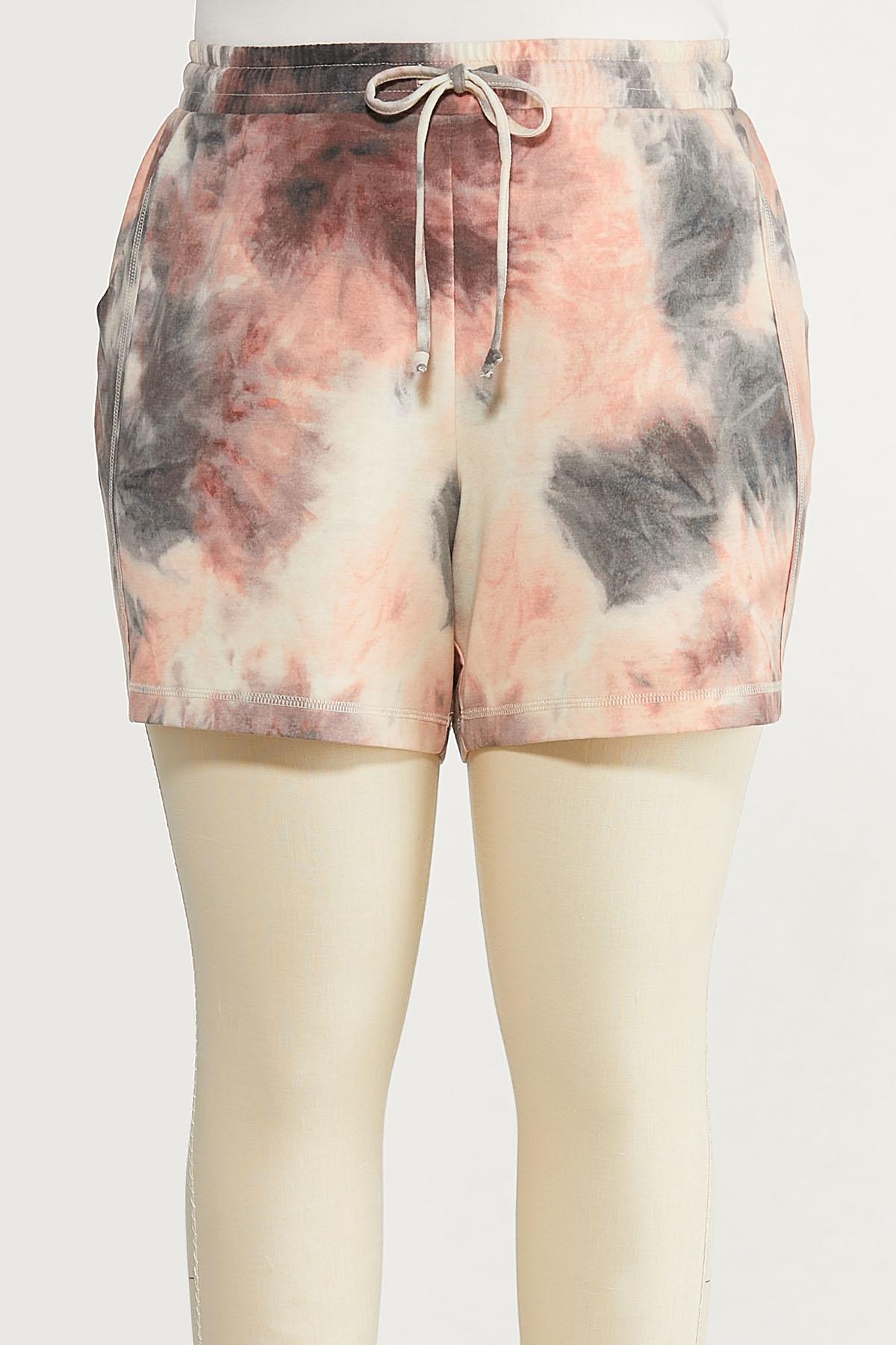 Plus Size Tie Dye Lounge Shorts