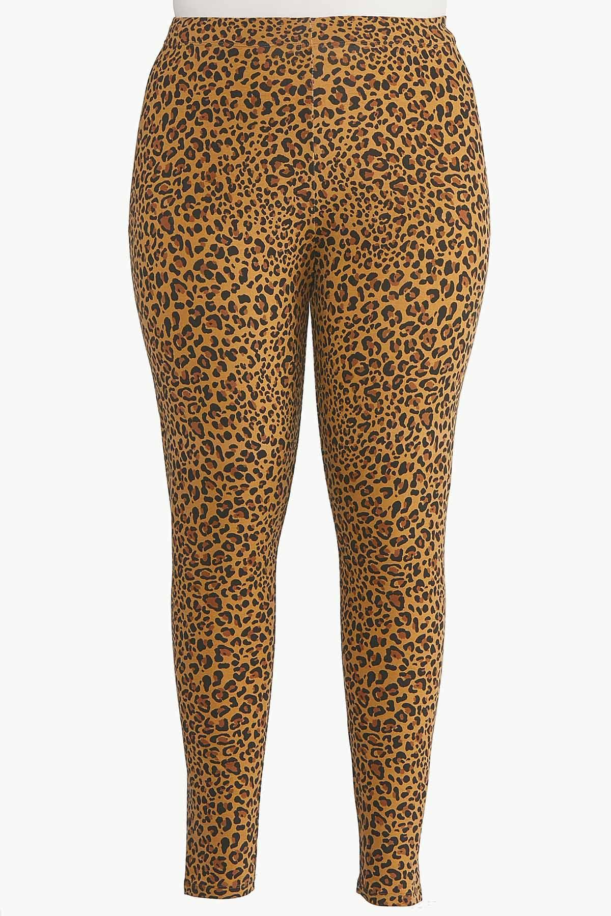 Plus Size Leopard Leggings