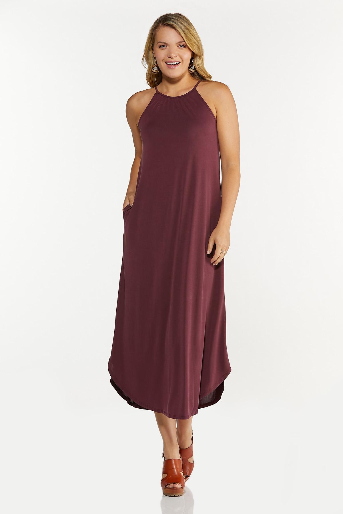 Plus Size Curved Hem Midi Dress