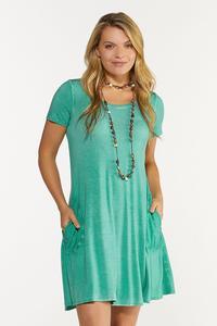 Dyed Shirt Swing Dress