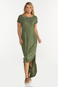 Cutout Tee Maxi Dress