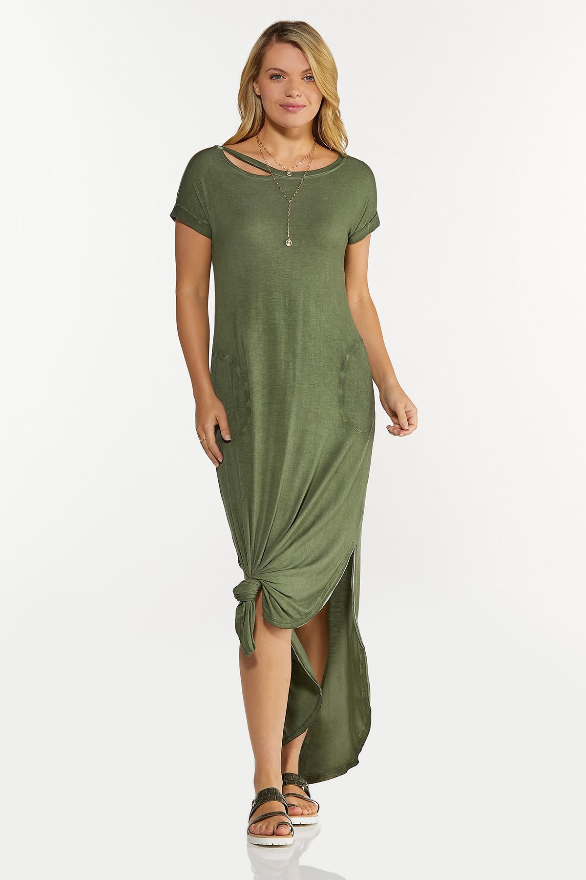 Plus Size Cutout Tee Maxi Dress