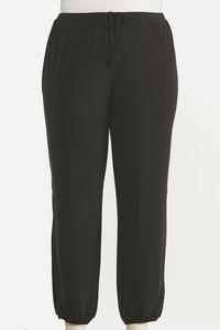 Plus Size Solid Cutout Joggers