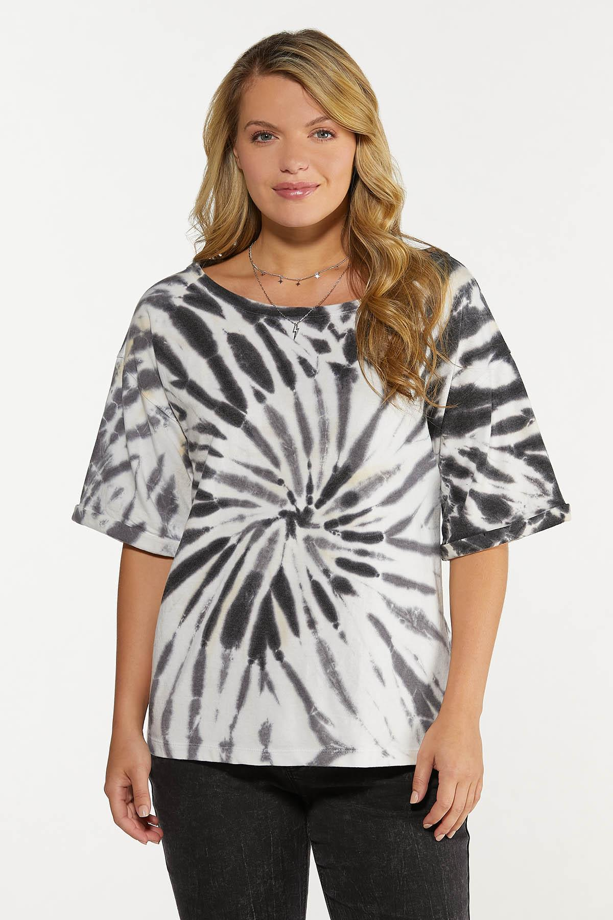 Plus Size Slouched Tie Dye Sweatshirt