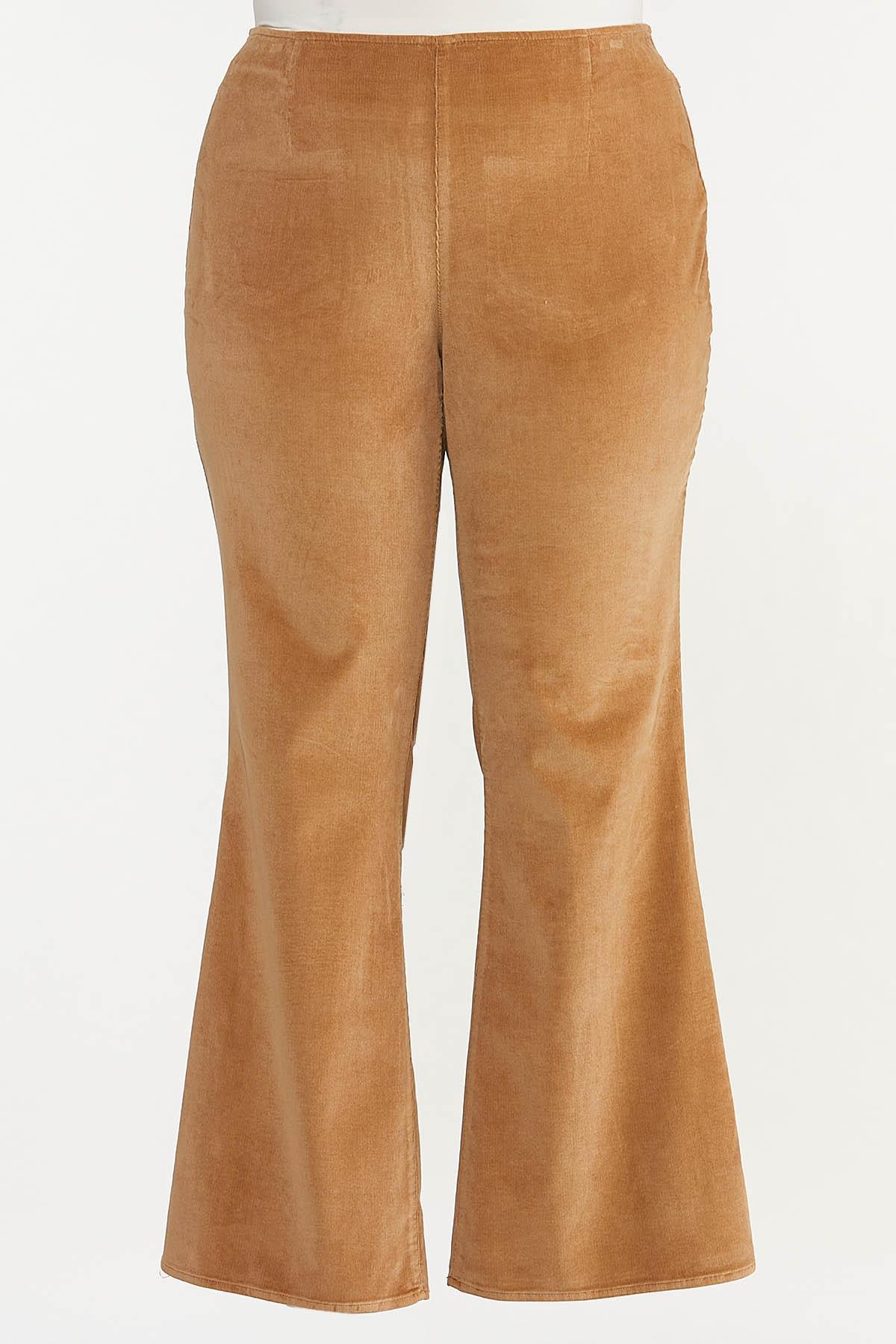 Plus Size Corduroy Flare Pants