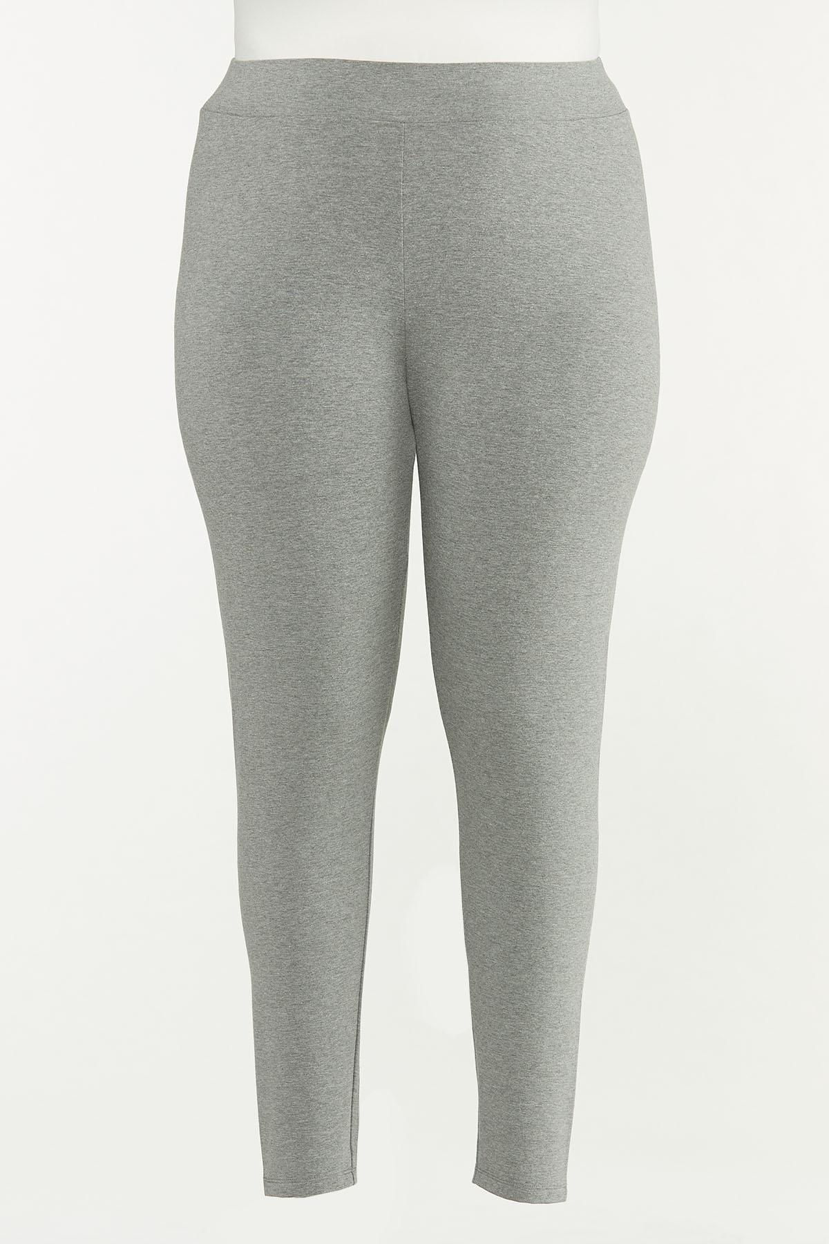 Plus Size Solid Leggings